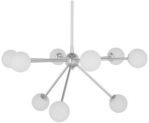 Lampada a sospensione Space, Paralume: vetro, Cromo, Larg. 81 x Prof. 71 cm