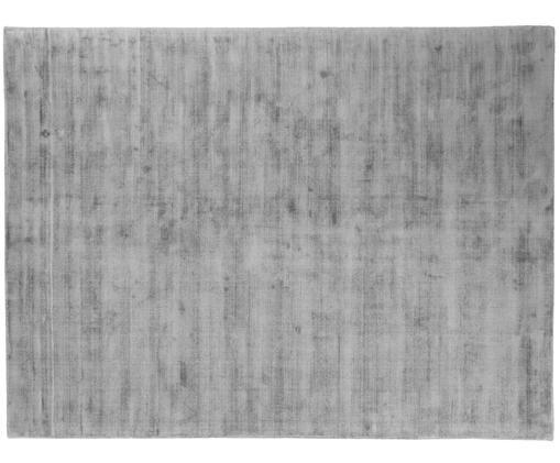Handgewebter Viskoseteppich Jane, Flor: 100% Viskose, Grau, B 300 x L 400 cm (Größe XL)