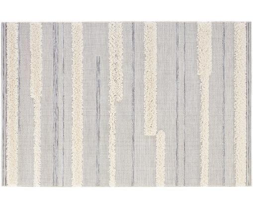 Tappeto in polipropilene da interno-esterno Ifrane, Crema, grigio