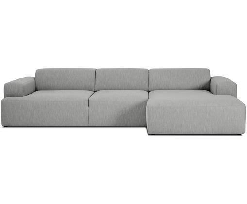 Ecksofa Marshmallow (4-Sitzer), Bezug: Polyester 35.000 Scheuert, Gestell: Massives Kiefernholz, Spa, Füße: Kiefernholz, Grau, B 319 x T 144 cm