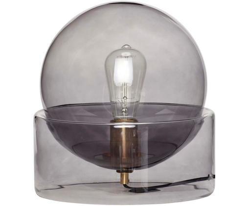 Tischleuchte Glondy aus Glas, Leuchte: Glas, Grau, Ø 27 x H 29 cm