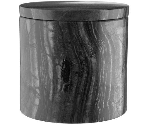 Aufbewahrungsdose Teren, Marmor, Schwarz, Ø 10 x H 10 cm