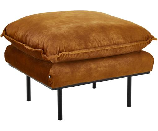 Sofa-Hocker Retro aus Samt, Senfgelb