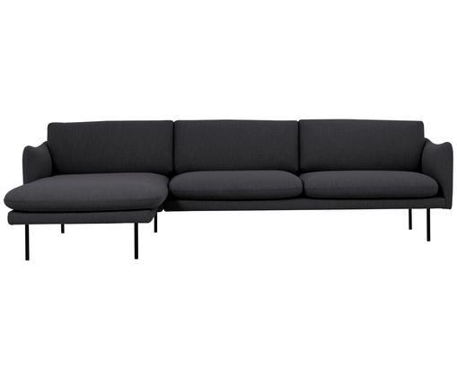 Canapé d'angle Moby, Gris foncé