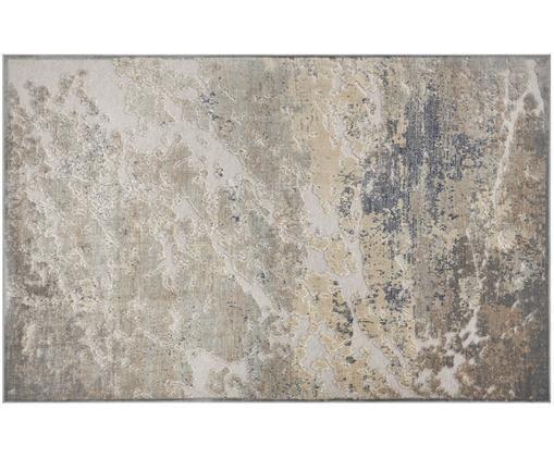 Dywan z wiskozy Arroux, 90% wiskoza, 10% poliester, Szary, odcienie srebrnego, S 80 x D 125 cm (Rozmiar XS)