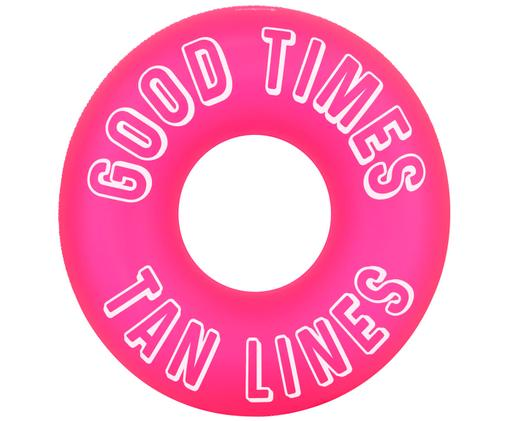 Dmuchany materac do pływania Good Times, Tworzywo sztuczne (PVC), Neonowy różowy, biały, Ø 110 x W 35 cm