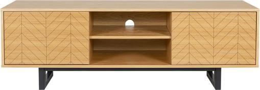 Design-TV-Lowboard Camden mit Eichenholzfurnier