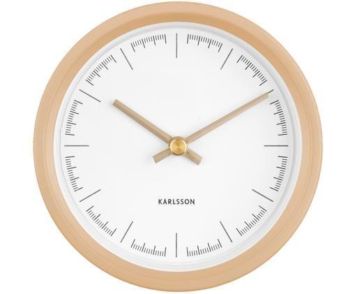 Orologio da parete Dense, Materiale sintetico, Beige, bianco, dorato, Ø 13 cm