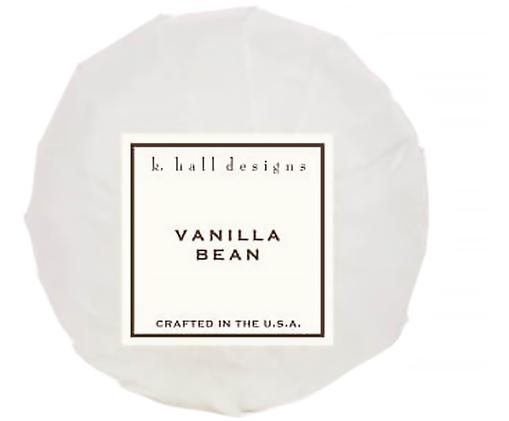 Badbruisbal Vanilla Bean (vanille & tonkaboon), Wit, Ø 7 x H 7 cm