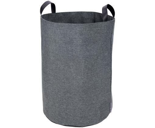 Wäschekorb Floor, Wäschekorb: GrauHenkel: Schwarz