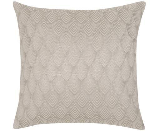 Haftowana poszewka na poduszkę Giselle, 100% bawełna, Szary, S 45 x D 45 cm