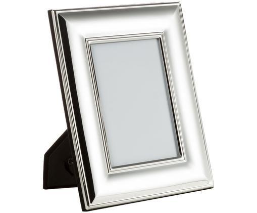 Bilderrahmen Liva, Rahmen: Metall, versilbert, Front: Glas, Rückseite: Mitteldichte Faserplatte , Silber, 13 x 18 cm