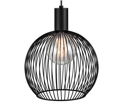 Lampada a sospensione Aver, Paralume: acciaio verniciato, Baldacchino: materiale sintetico, Nero, Ø 30 x Alt. 35 cm