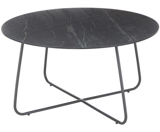 Ogrodowy stolik pomocniczy Taverny, Blat: laminat wysokociśnieniowy, Stelaż: aluminium malowane proszk, Ciemnyszary, Ø 65 x W 43 cm