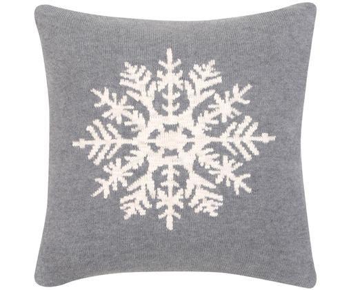 Federa arredo Snowflake, Grigio, crema