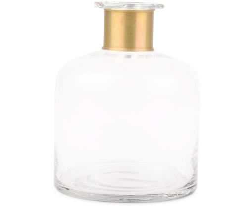 Glas-Vase Smokey, Vase: Glas, Vase: TransparentVerzierung: Messing, Ø 18 x H 23 cm