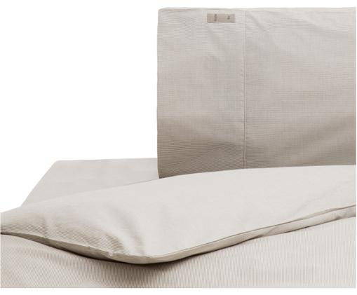 Parure copripiumino Stripes, Grigio, grigio chiaro, 155 x 260 cm