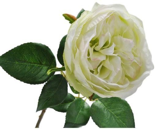 Flor artificial rosa Talina, Crema, L 48 cm