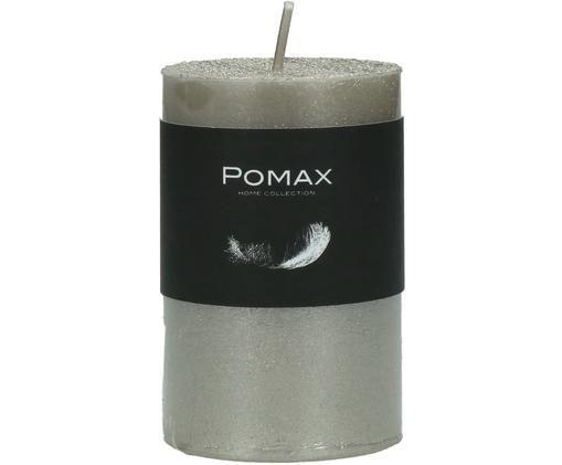 Świeca pieńkowa Arda, 80% parafina, 20% wosk palmowy, Odcienie srebrnego, Ø 5 x W 8 cm