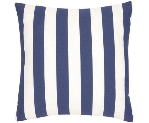 Federa arredo  Timon, 100% cotone, Blu scuro, bianco, Larg. 45 x Lung. 45 cm