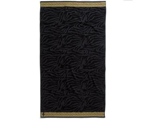 Ręcznik plażowy Masai, Czarny, żółty