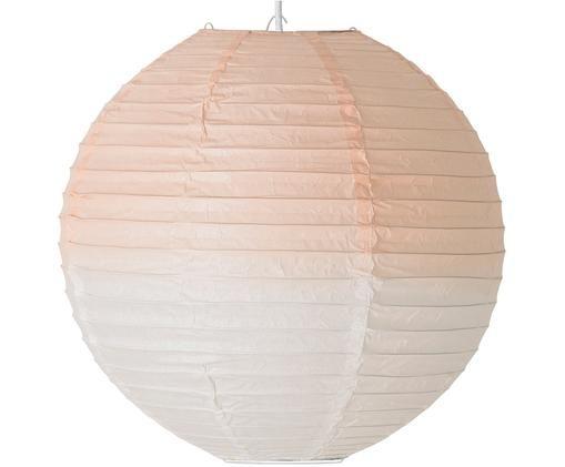 Lámpara de techo Lampion, Papel de arroz, Rosa, blanco, Ø 35 x Al 155 cm