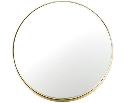Lustro ścienne Metal, Rama: odcienie złotego Szkło lustrzane, Ø 43 cm