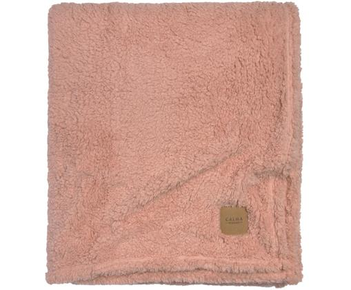 Teddy-Tagesdecke Ted in Rosa, Polyester, Pink, 170 x 220 cm