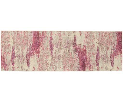 Chodnik Celestial, Polipropylen, Beżowy, blady różowy, S 60 x D 180 cm