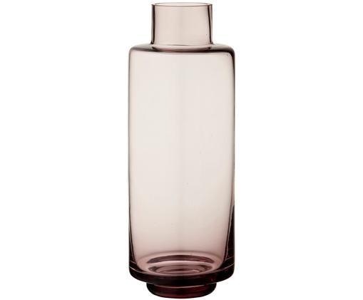 Vaso soffiato a bocca Hedria, di grandi dimensioni, Vetro, Rosa, Ø 11 cm x Alt. 30 cm