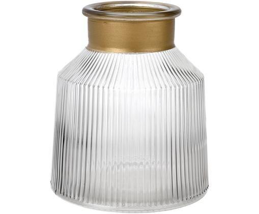 Glas-Vase Junyell, Goudkleurig, transparant
