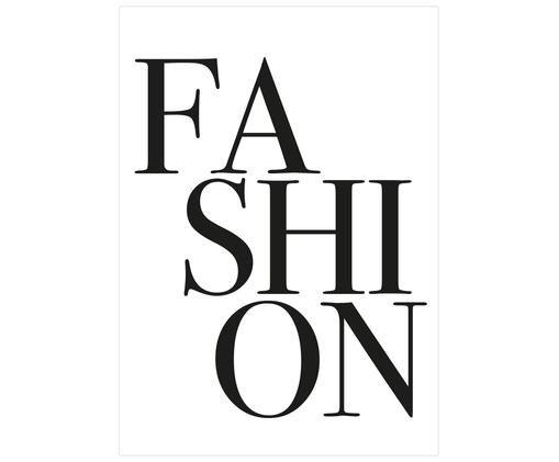 Poster Fashion, Blanc, noir