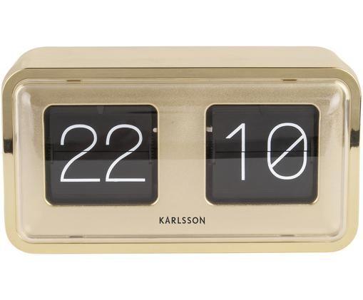 Orologio numerico Bold, Materiale sintetico, Dorato, nero, bianco, Larg. 27 x Alt. 15 cm