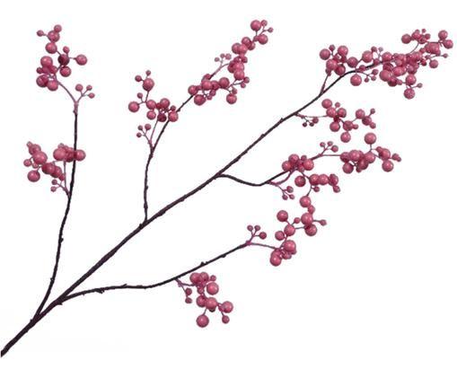 Fiore artificiale ramo di bacca Barbara, Materiale sintetico, Marrone, rosa, Larg. 20 x Lung. 84 cm