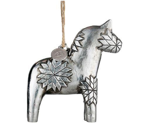 Adornos navideños Serafina Horse, 2uds., Plateado
