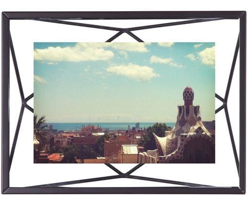 Cornice Prisma, Cornice: acciaio, Nero, 10 x 15 cm