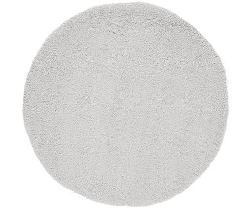 Flauschiger runder Hochflor-Teppich Leighton in Hellgrau, Flor: 100% Polyester (Mikrofase, Hellgrau, Ø 120 cm (Größe S)