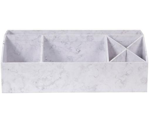 Büro-Organizer Elisa, Weiß, marmoriert