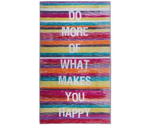 Strandtuch Happy, Velours, leichte Qualität, 420 g/m², Mehrfarbig, 100 x 180 cm