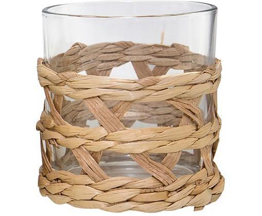 Verres à eau avec tissage décoratif Osier, 4 pièces