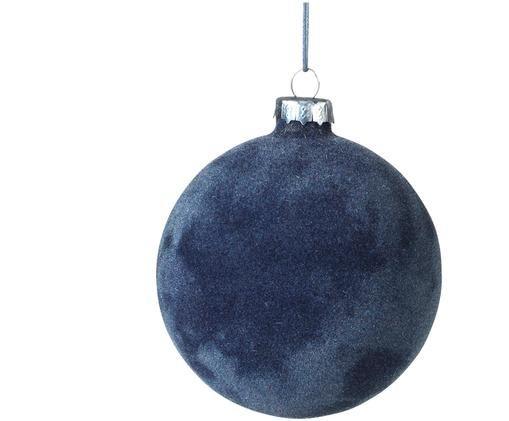 Palline di Natale Alcan, 3 pz., Blu scuro