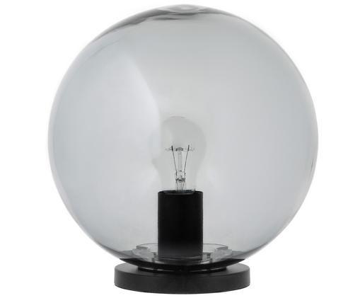 Lampada da tavolo Beth, Paralume: vetro, Base della lampada: metallo verniciato a polv, Grigio, nero, Ø 25 x Alt. 26 cm