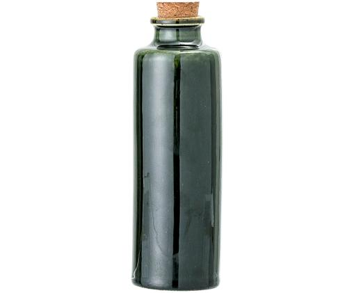 Oliera Joelle, Contenitore: terracotta, Coperchio: sughero, Verde scuro, Ø 6 x Alt. 18 cm
