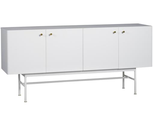 Design-Sideboard Glendale in Weiß, Eichenholz, Weiß