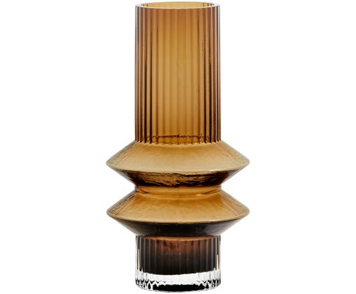 Glas-Vase Rilla, Glas, Bernsteinfarben, Ø 10 x H 21 cm