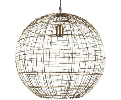 Pendelleuchte Corby, Lampenschirm: Metall, lackiert, Messingfarben, Ø 45 x H 46 cm