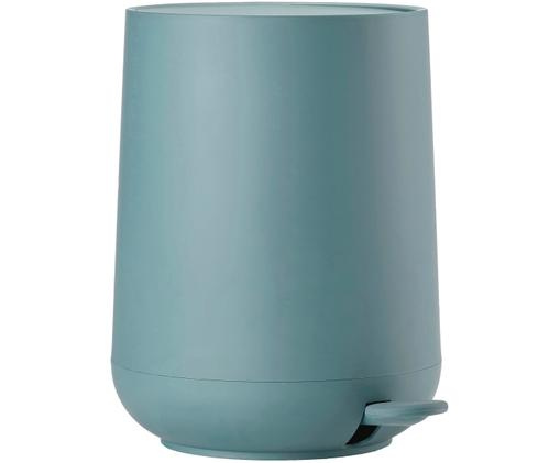 Kosz na śmieci Cameo, Tworzywo sztuczne (ABS) pokryte miękką w dotyku powierzchnią (tworzywo sztuczne), Niebieski, Ø 23 x W 31 cm