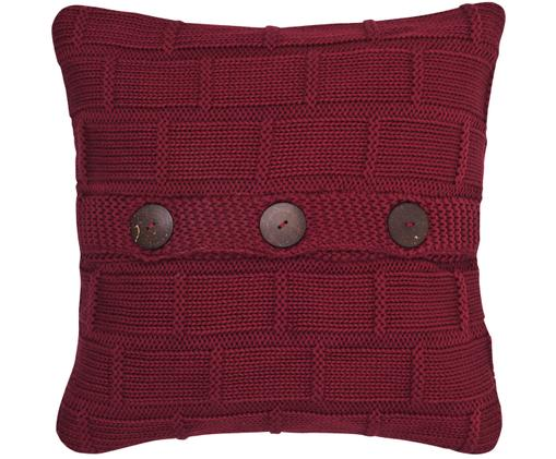 Federa arredo lavorata a maglia Clara, Rosso