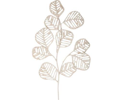 Dekoracja ścienna Flora, Metal, Biały, S 48 x W 81 cm