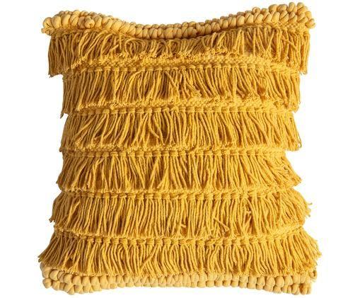 Poduszka Tallara, z wypełnieniem, Tapicerka: bawełna z recyklingu, Brunatnożółty, S 45 x D 45 cm